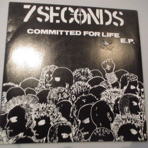 "7 SECONDS - Committed For Life E.P. (US Re Blue Vinyl 7"")"