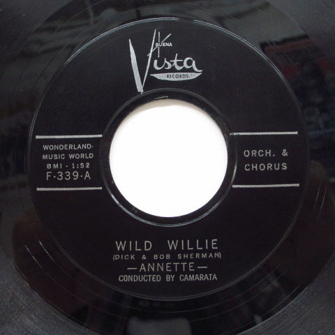 ANNETTE - Lonely Guitar / Wild Willie (Orig.Plastic Label)