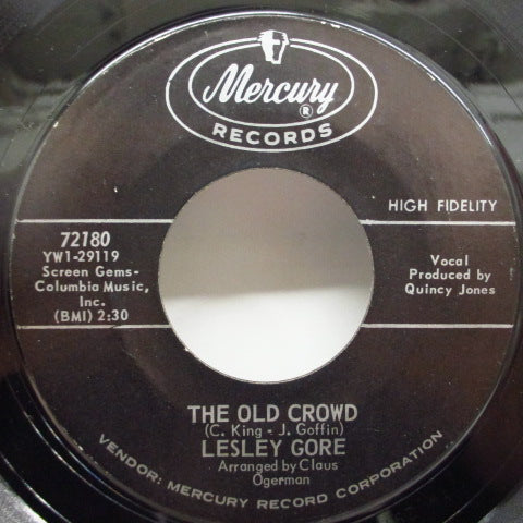 LESLEY GORE-She's A Fool / The Old Crowd (No PS)
