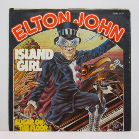 "ELTON JOHN - Island Girl (German Oreig.7""+PS)"