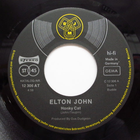 "ELTON JOHN - Honky Cat (German Orig.7""+PS)"