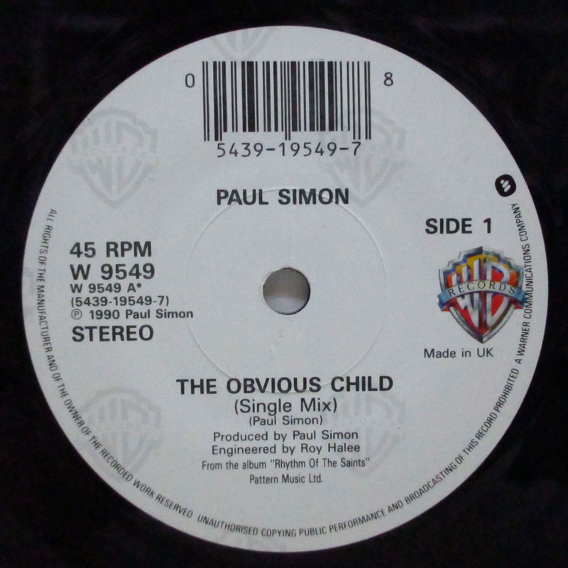 "PAUL SIMON (ポール・サイモン)  - The Obvious Child (UK Orig.7""+PS)"