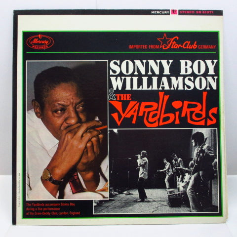 YARDBIRDS (Sonny Boy Williamson & THE) - Sonny Boy Williamson & The Yardbirds (US 70's Re Stereo LP)