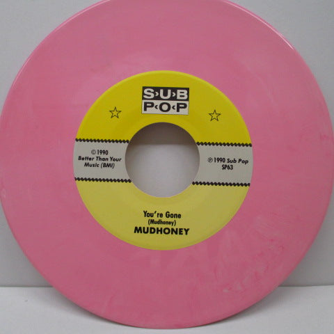 "MUDHONEY - You're Gone +2 (US Orig.Pink Vinyl 7"")"