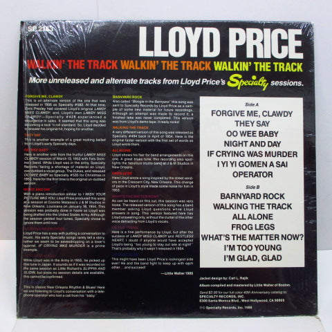 LLOYD PRICE - Walkin' The Track (US Orig.)