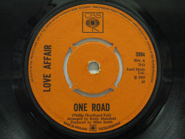 LOVE AFFAIR - One Road / Let Me Know