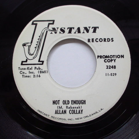 ALLAN COLLAY - Not Old Enough (Promo)