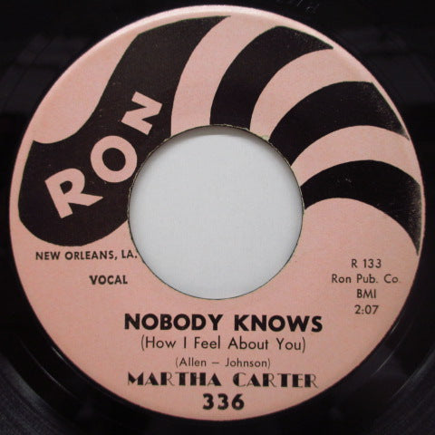 MARTHA CARTER - Nobody Knows / I'm Through Crying