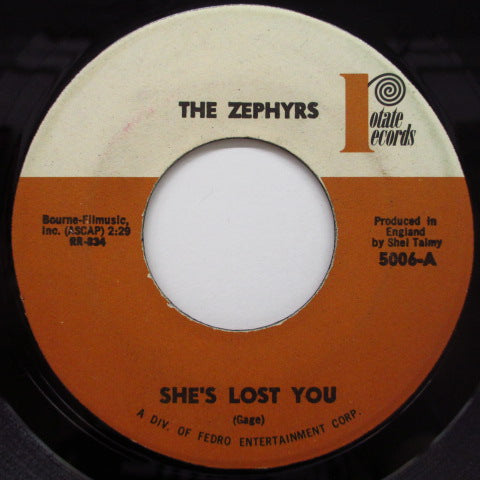 "ZEPHYRS - She's Lost You (US Orig.7"")"