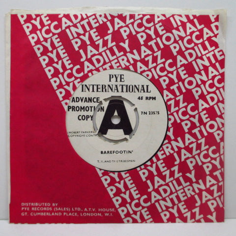 "T.V.AND THE TRIBESMEN - Barefootin' / Fat Man (US Promo 7""+CS)"