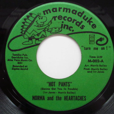 NORMA & THE HEARTACHES - Hot Pants / Hot Pants Dance