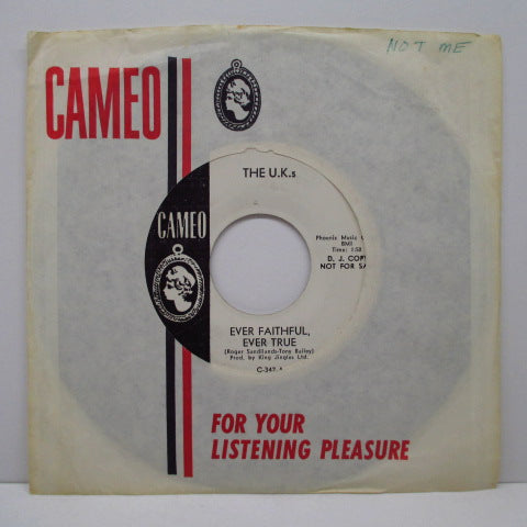 "U.K.S - Your Love Is All I Want (UK Promo 7""+CS)"