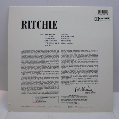 RITCHIE VALENS - Ritchie (US '87 Reissue LP)