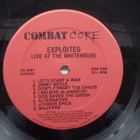 EXPLOITED, THE - Live At The White House (US Orig.LP)