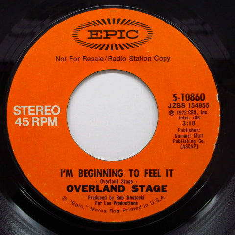 OVERLAND STAGE - I'm Beginning To Feel It (Promo)