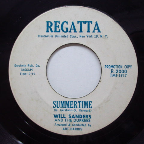 WILL SANDERS & THE DUPREES - Summertime (Promo)