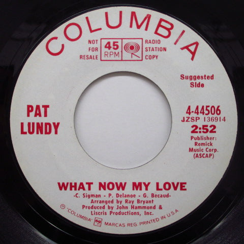 PAT LUNDY - What Now My Love (Promo)