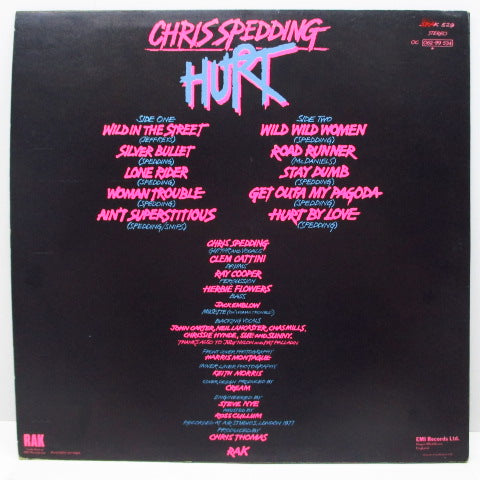 CHRIS SPEDDING - Hurt (UK Orig.LP)