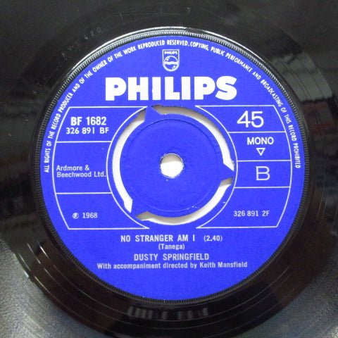 "DUSTY SPRINGFIELD - I Close My Eyes And Count To Ten (UK Orig.7""/Round Center)"