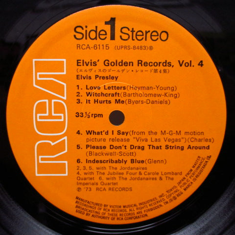 ELVIS PRESLEY - Elvis' Gold Records Vol.4 (日本'73年Re)