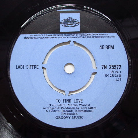 LABI SIFFRE - It Must Be Love (UK Orig.Round Center)
