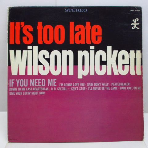 WILSON PICKETT - It's Too Late (US Orig.Stereo LP)