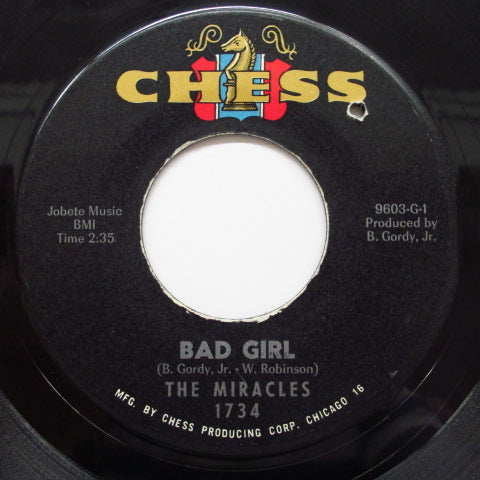 MIRACLES (SMOKEY ROBINSON & THE) - Bad Girl (60's Reissue Chess Black Label)