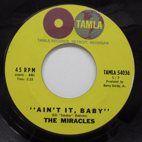 MIRACLES (SMOKEY ROBINSON & THE) - Ain't It Baby (US 2nd Press)