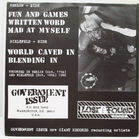 "GOVERNMENT ISSUE - Fun And Games (German Orig.7"")"
