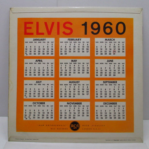 ELVIS PRESLEY - A Date With Elvis (UK'64年Re/Silver Spot Logo)