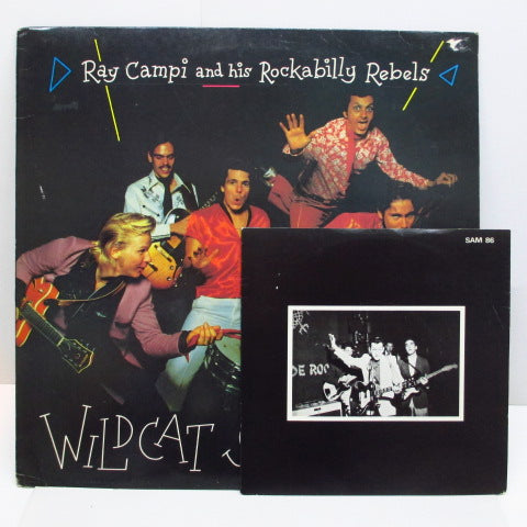 "RAY CAMPI & HIS ROCKABILY REBELS - Wildcat Shakeout (UK Orig.LP+Bonus 7"")"