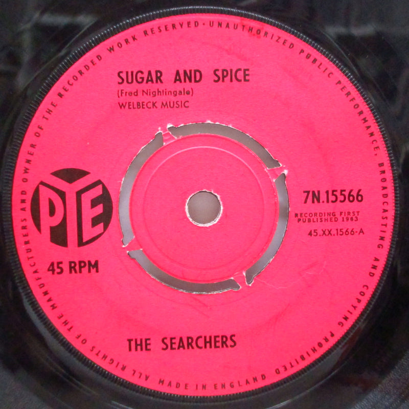"SEARCHERS (サーチャーズ)  - Sugar And Spice (UK 2nd Press Pink Lbl.7""+CS)"