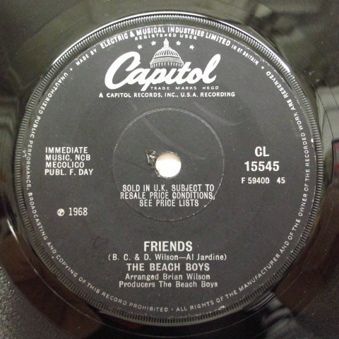 BEACH BOYS - Friends (UK:Flat LBL)