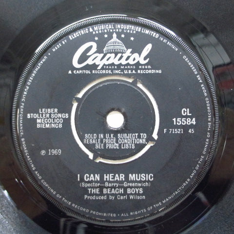 BEACH BOYS - I Can Hear Music (UK Orig.Round Center)