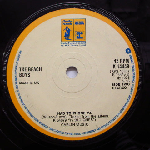 BEACH BOYS - It's O.K. / Had To Phone Ya (UK)