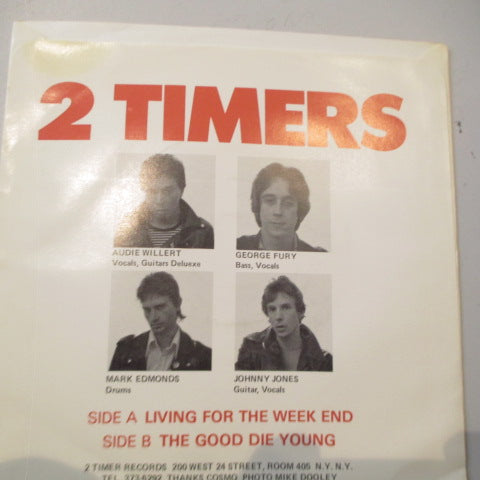 "2 TIMERS - Living For The Week End (US Orig.7"")"