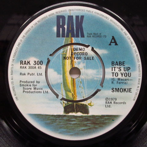 "SMOKIE - Babe It's Up To You (UK Promo 7""+PS)"