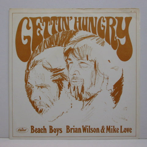 "BRIAN WILSON & MIKE LOVE - Gettin' Hungry / Devoted To You (DUTCH Orig.7""+PS)"