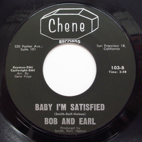 BOB & EARL - The Sissy / Baby I'm Satisfied