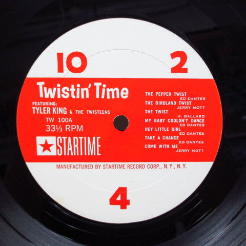 TYLER KING & THE TWISTEENS - Twistin' Time / Pepper Lounge (US Orig.Mono LP)