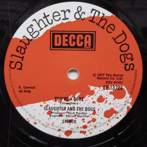 "SLAUGHTER & THE DOGS - Where Have All The Boot Boys Gone? (UK Orig.12"")"