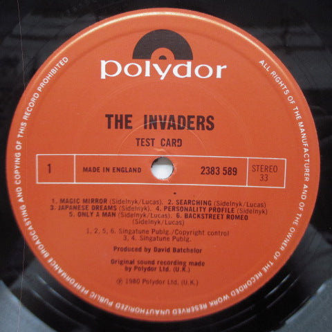 INVADERS, THE - Test Card (UK Orig.LP)