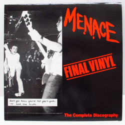 MENACE - Final Vinyl - The Complete Discography (Italy Ltd.Red LP)