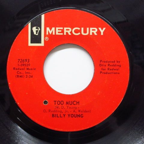 BILLY YOUNG - Nothing's Too Much (Nothing's Too Good)