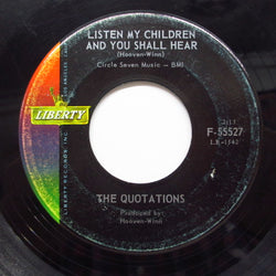 QUOTATIONS - Listen My Children And You Shall Hear ('63 Reissue)