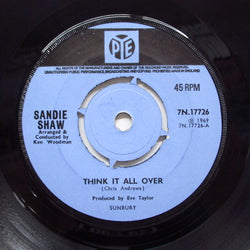 SANDIE SHAW - Think It All Over (UK Orig.Round Center)