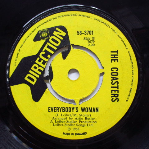 COASTERS - She Can / Everybody's Woman