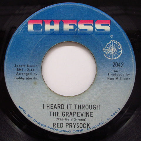 RED PRYSOCK - I Heard It Through The Grapevine