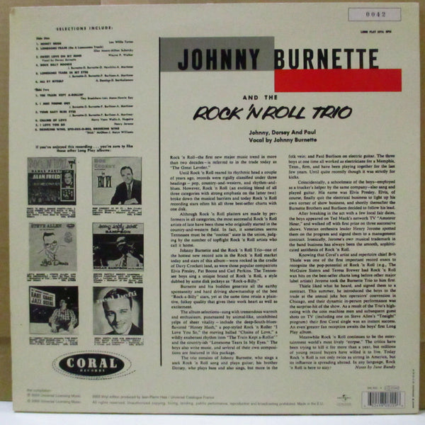 JOHNNY BURNETTE & THE R&R TRIO - Johnny Burnette & The Rock'n'Roll Trio (欧Re)