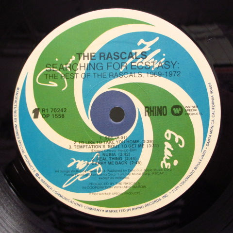 RASCALS - Searching For Ecstasy - The Rest Of The Rascals, 1969-1972  (US:Rhino Comp.)